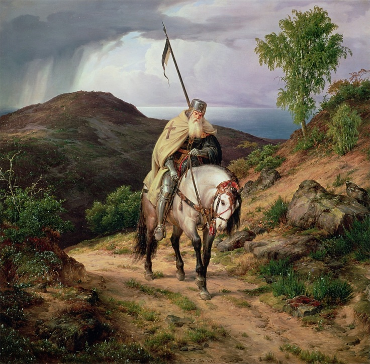 The Return of the Crusader, 1835 (oil on canvas)